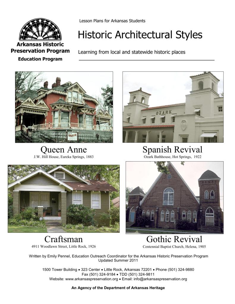 Historic Architectural Styles - the Arkansas Historic Preservation
