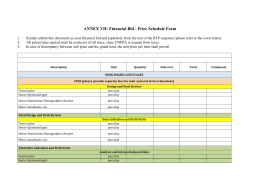 ANNEX VII: Financial Bid - Price Schedule Form