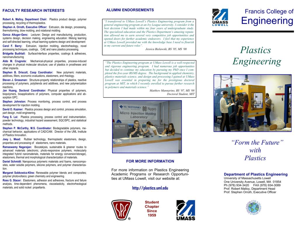 Plastics Engineering Brochure