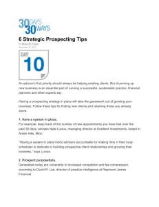 6 Strategic Prospecting Tips