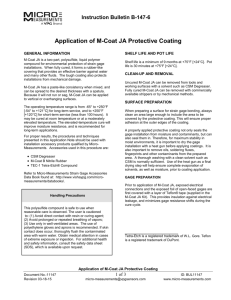 Application of M-Coat JA Protective Coating
