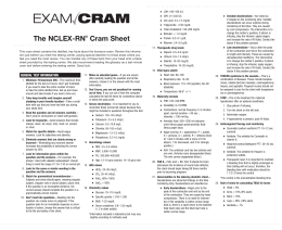 The NCLEX-RN® Cram Sheet
