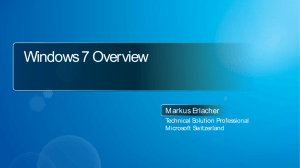 Windows 7 Overview