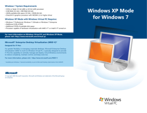 Windows XP Mode for Windows 7