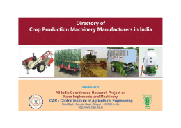 Directory of Agricultural Machinery Manufacturers in India