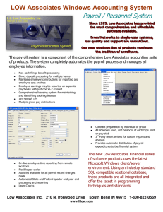 LOW Associates Windows Accounting Systems