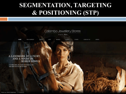segmentation, targeting & positioning (stp)