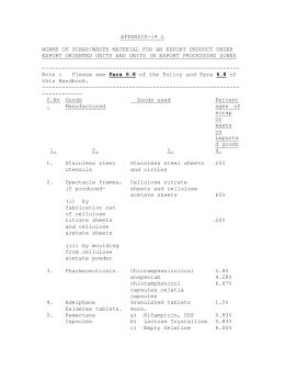 appendix-14 l norms of scrap/waste material for an export product