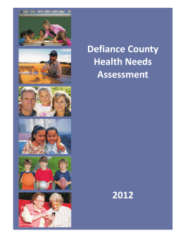 Defiance County Health Needs Assessment 2012