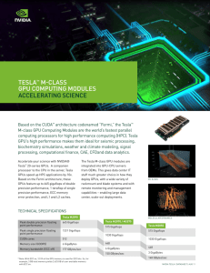 Tesla™ M-Class GPU Computing Modules Accelerating