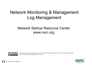 Network Monitoring & Management Log Management