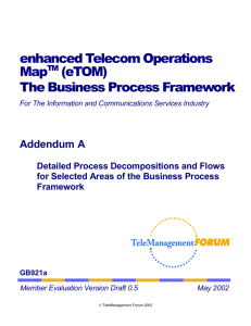 The TeleManagement Forum's NGOSS Framework