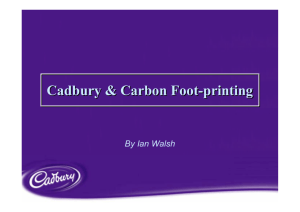 Cadbury & Carbon Foot-printing