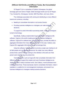 cadbury schweppes case study answers