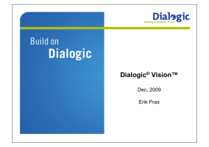 Dialogic® Vision™ CX Video Gateway