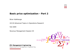 Basic price optimization