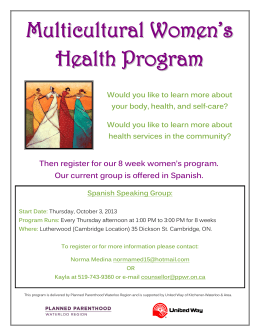 Multicultural Women's Health Program