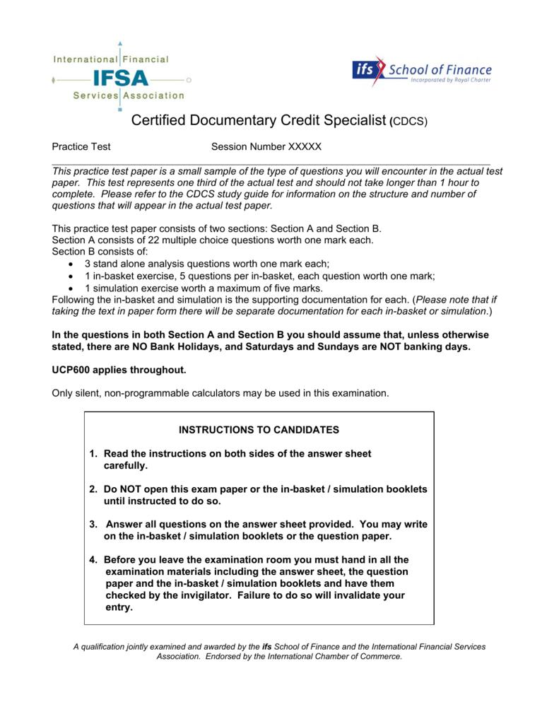 cdcs ucp 600 practice exercises