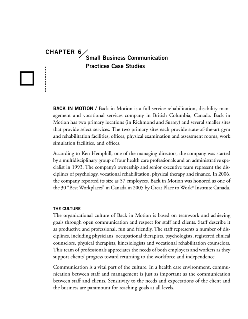 effective communication in an organization case study