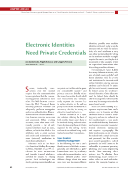 Electronic Identities Need Private Credentials
