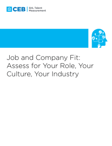 Job and Company Fit: Assess for Your Role, Your Culture