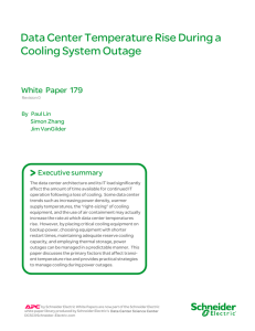 Data Center Temperature Rise During Cooling System Outages