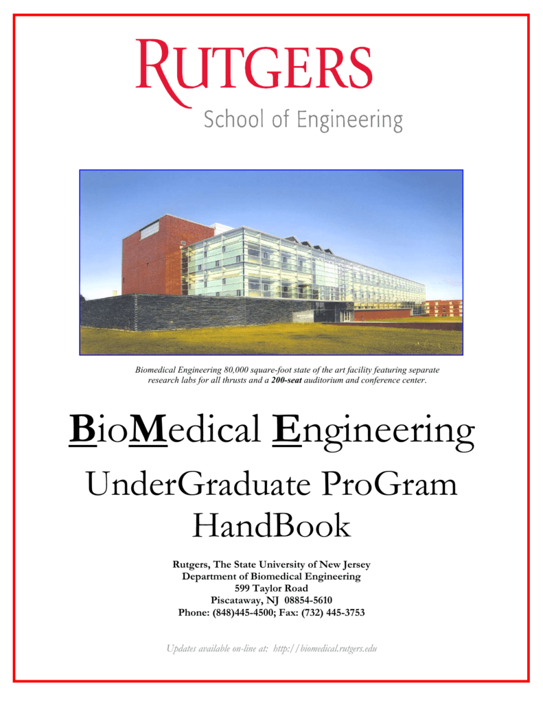 BioMedical Engineering - Rutgers University School of Engineering
