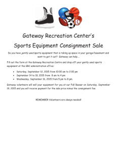 Consignment sports equipment