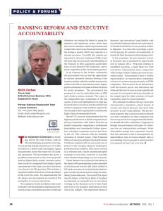 banking reform and executive accountability