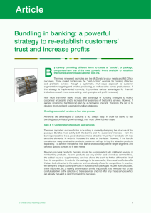 Bundling in banking: a powerful strategy to re