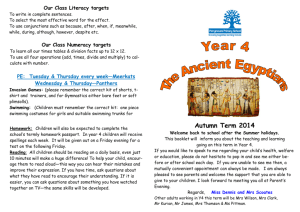 Autumn Term 2014 - Perrymount Primary School