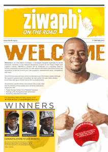 Ziwaphi on the Road – 1st Edition 2013
