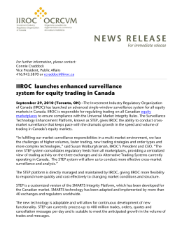 IIROC launches enhanced surveillance system for equity trading in