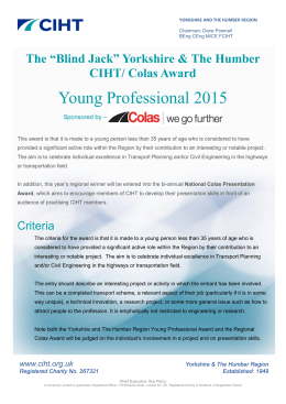 Young Professional/ Colas Award 2015