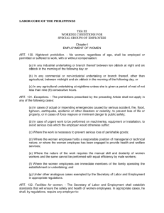 Labor Code of the Philippines - Department of Labor and Employment