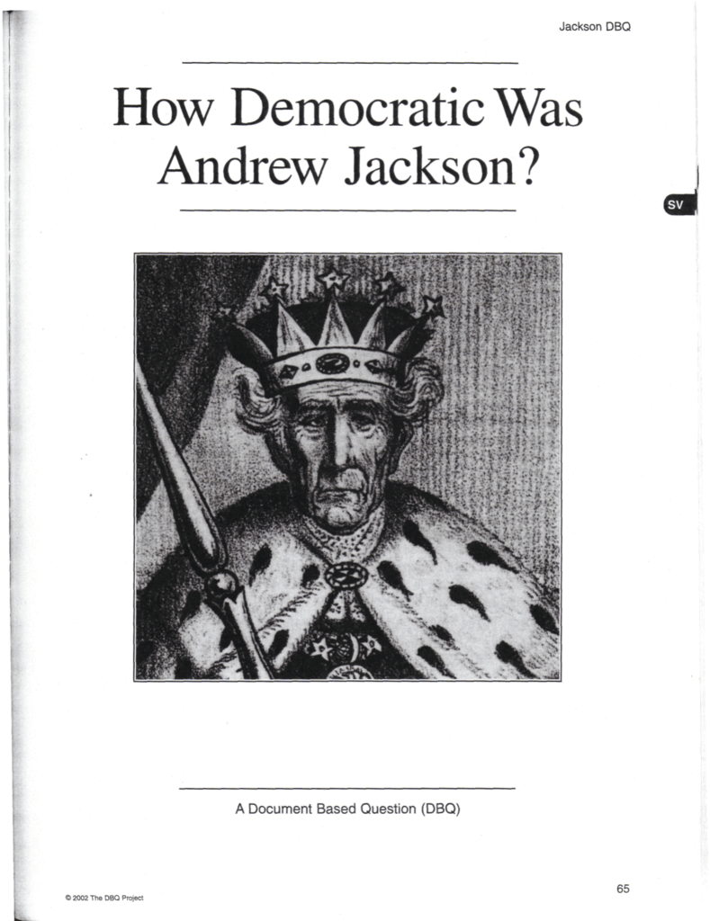 how democratic was andrew jackson Andrew jackson: andrew jackson he was the beneficiary of a rising tide of democratic sentiment jackson, andrew andrew jackson.