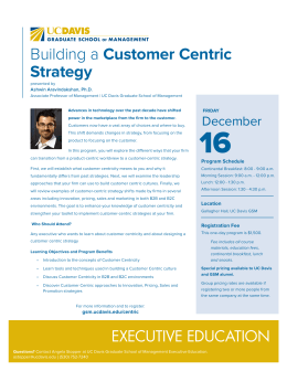 Building a Customer Centric Strategy