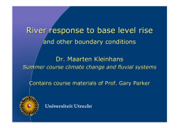 River response to base level rise