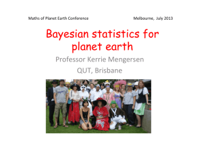 Bayesian statistics for planet earth