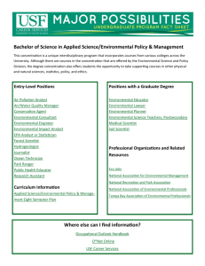 Applied Science/Environmental Policy & Management