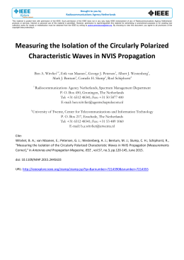 Measuring the Isolation of the Circularly Polarized Characteristic