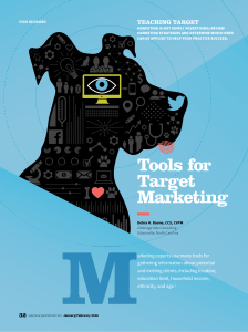 Tools for Target Marketing