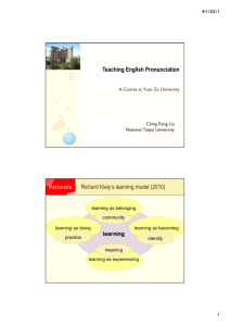 Teaching English Pronunciation Richard Kiely's learning model