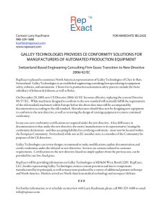 galley technologies provides ce conformity solutions for