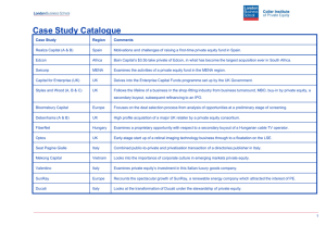 Case Study Catalogue - London Business School Institute of Private