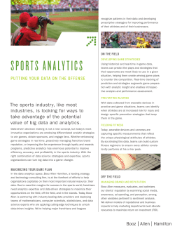 Sports Analytics - Booz Allen Hamilton