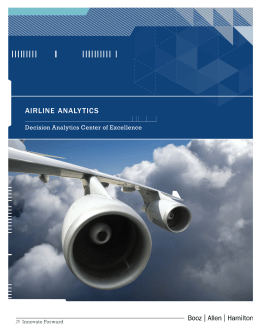 Airline Analytics - Booz Allen Hamilton