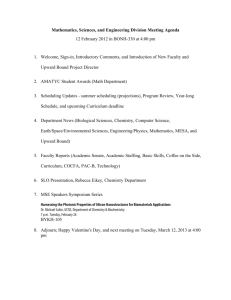 Mathematics, Sciences, and Engineering Division Meeting Agenda