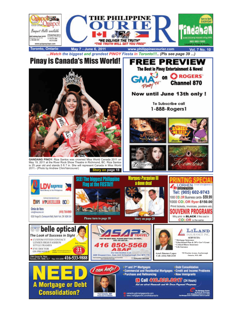 Ang Kapitbahay 2003 Tagalog Movie pinay is canada's miss world!