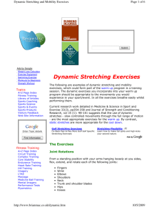 Dynamic Stretching Exercises